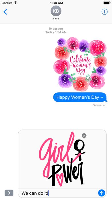 Happy Women's Day Stickers Set screenshot 5