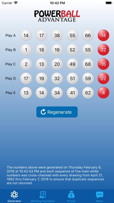 Screenshot #1 pour Powerball Advantage