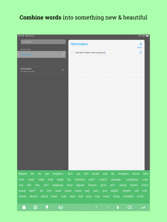 Creative Writer - Fun! Easy! Write! - Ideas for Writing and Texting - Flow of Words, Poetry and Lyrics screenshot