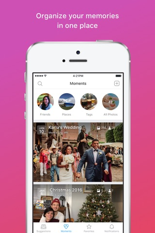 Moments–private shared albums screenshot 3