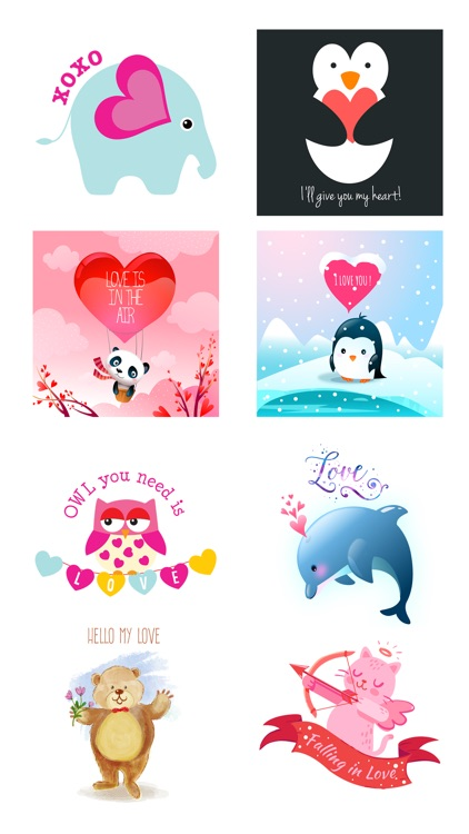 Love Quotes with Lovely & Cute Animal Character screenshot-3