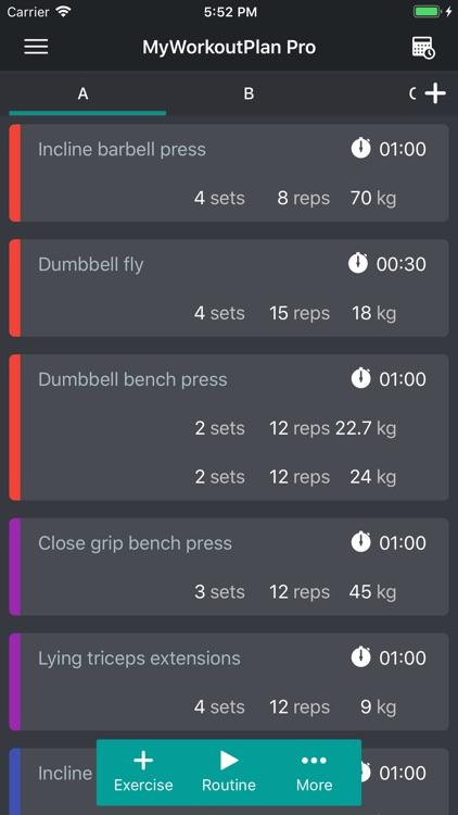 My Workout Plan Daily Tracker screenshot-0