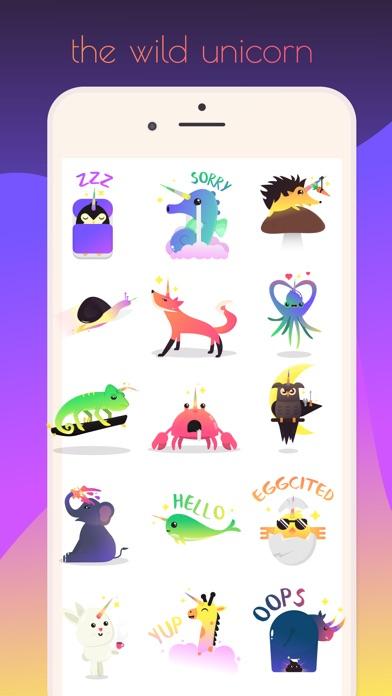 Wild Unicorn Animal Stickers
