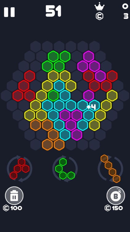 Neon Block Puzzle : Fill Board screenshot-3