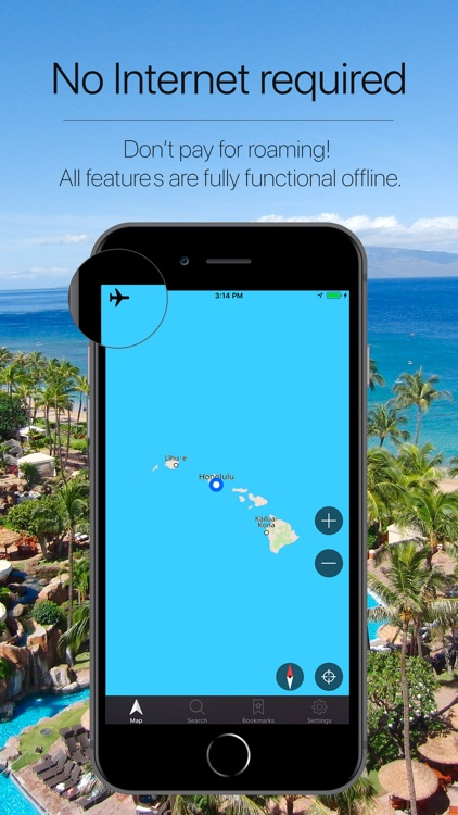 Hawaii, USA Offline Navigation