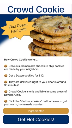 Crowd Cookie 4+. Hot Homemade Cookies Delivered