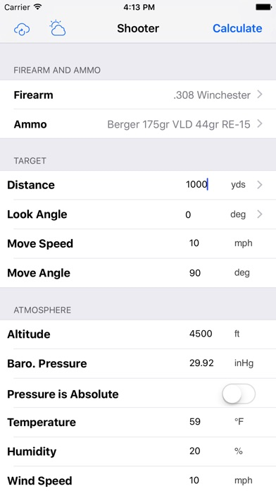 Screenshot for Shooter (Ballistic Calculator) in Spain App Store
