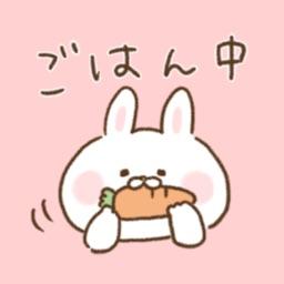◯◯してるとこステッカー〜出っ歯うさぎ〜