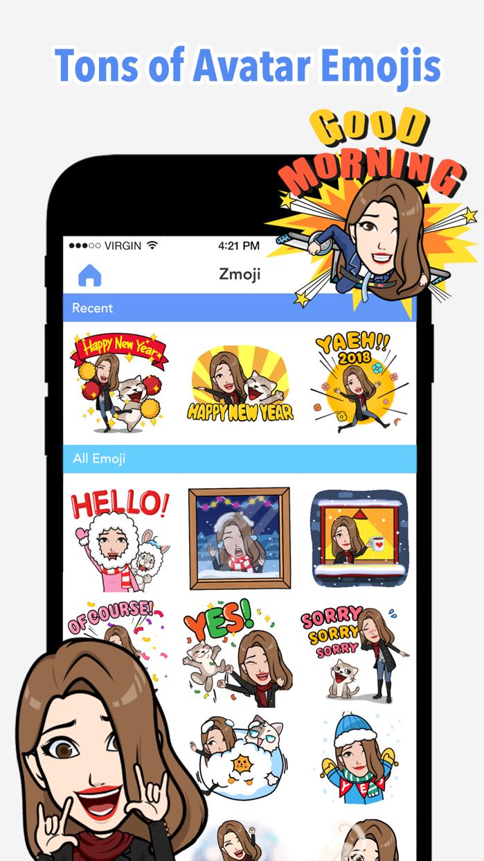 Emoji Me Keyboard   Zmoji Screenshot