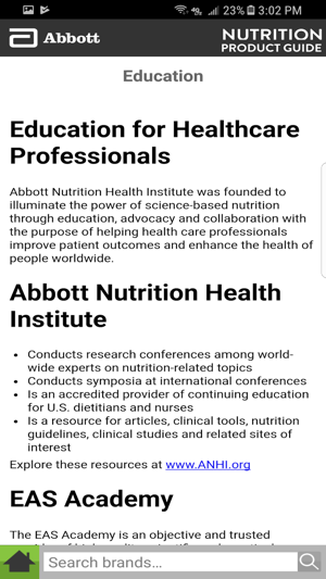 Abbott Nutrition Product Guide on the App Store