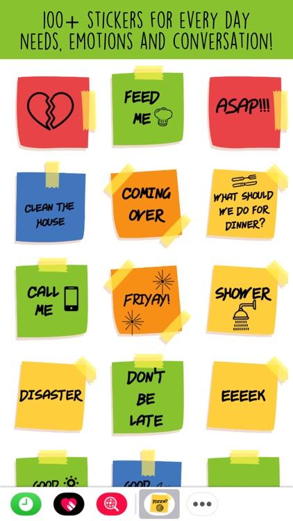 Sticky Note Life Stickers