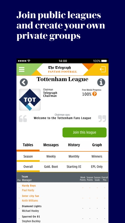 TFF: Pick and manage your Fantasy Football Team screenshot-3