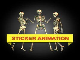 welcome to Halloween to year 2017 with amazing collection sticker Skeleton emoji animation