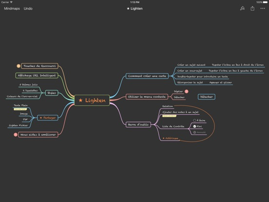 Screenshot #4 pour Lighten: Mind Mapping by XMind