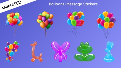 Animated Balloons for iMessageScreenshot of 1