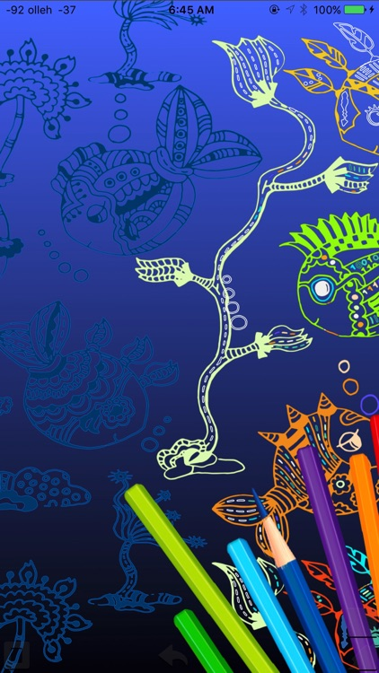 Coloring Game Book sea animals