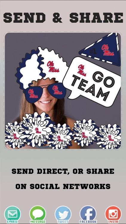 Ole Miss Rebels Selfie Stickers screenshot-3