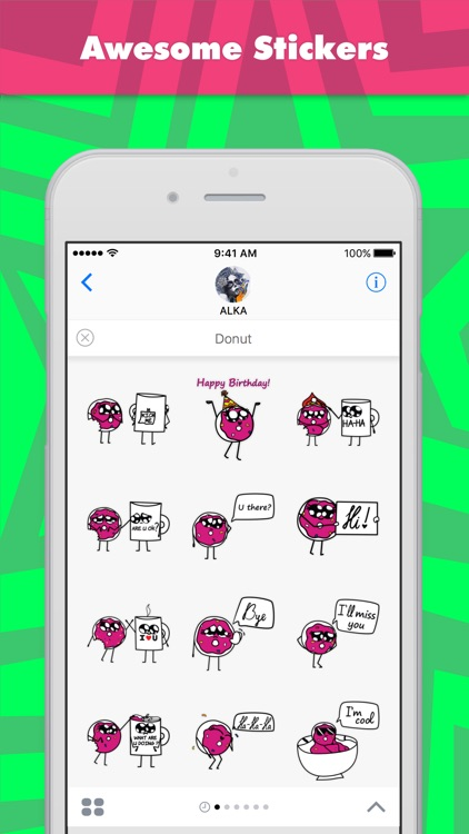 Donut stickers by ALKA