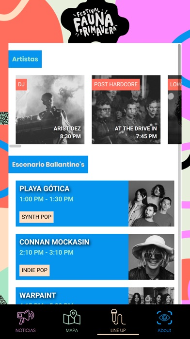 Screenshot of Fauna Primavera 2018 App