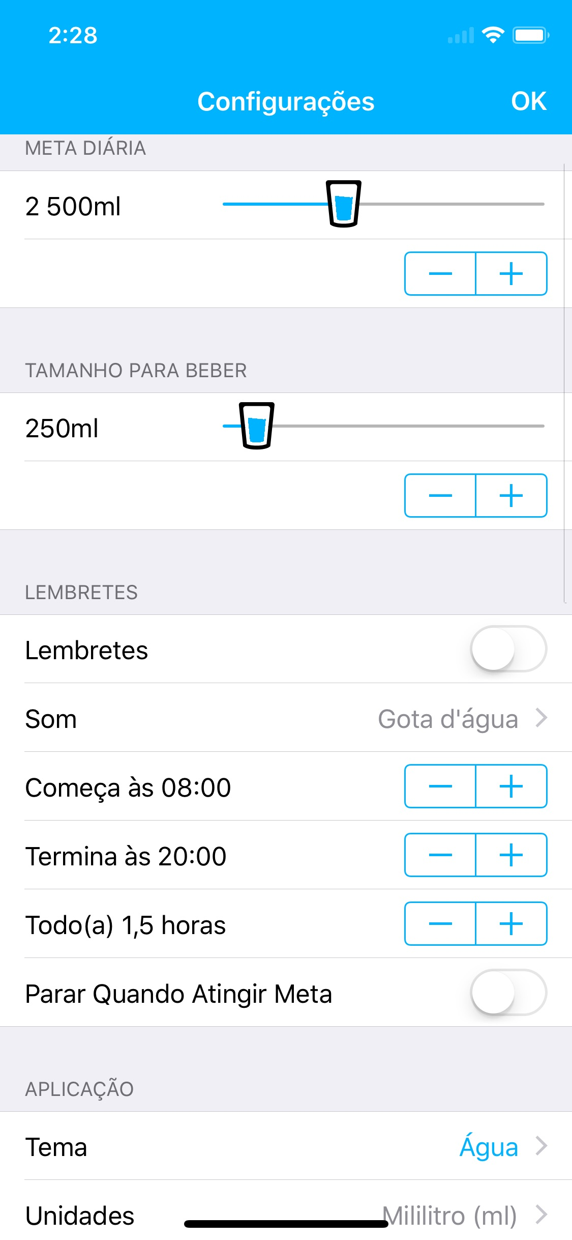 Screenshot do app Watered