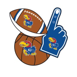 Kansas JayHawks Selfie Stickers
