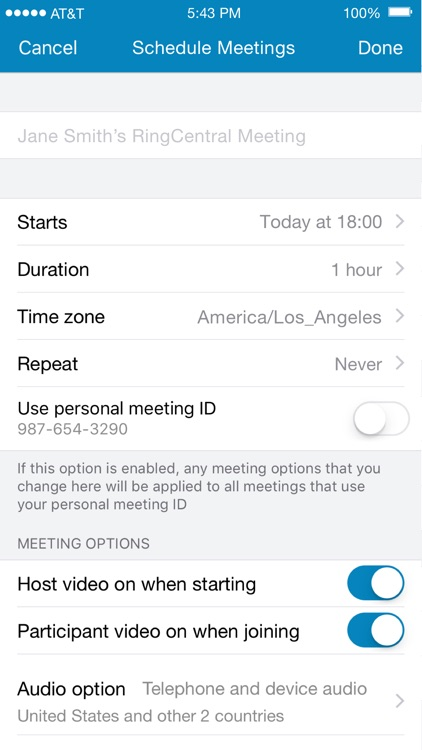RingCentral Meetings screenshot-3