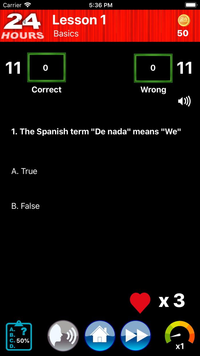 In 24 Hours Learn Spanish + Screenshot