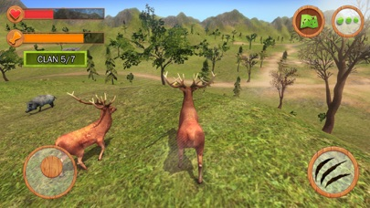 Wild Animals Clan Simulator 3D screenshot one