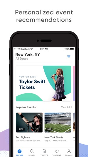 seatgeek buy event tickets on the app store