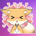 Cute Girly Fox Stickers