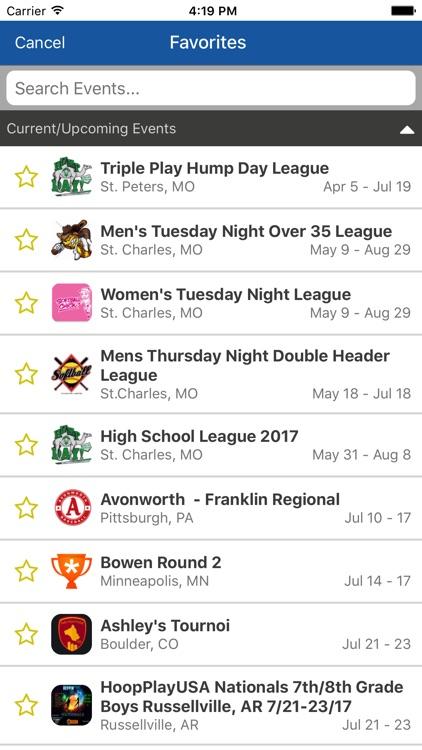 TeamSnap Tournaments