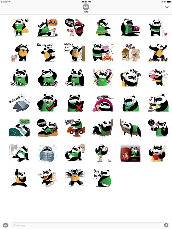 Funny Chubby Panda Sticker screenshot 4