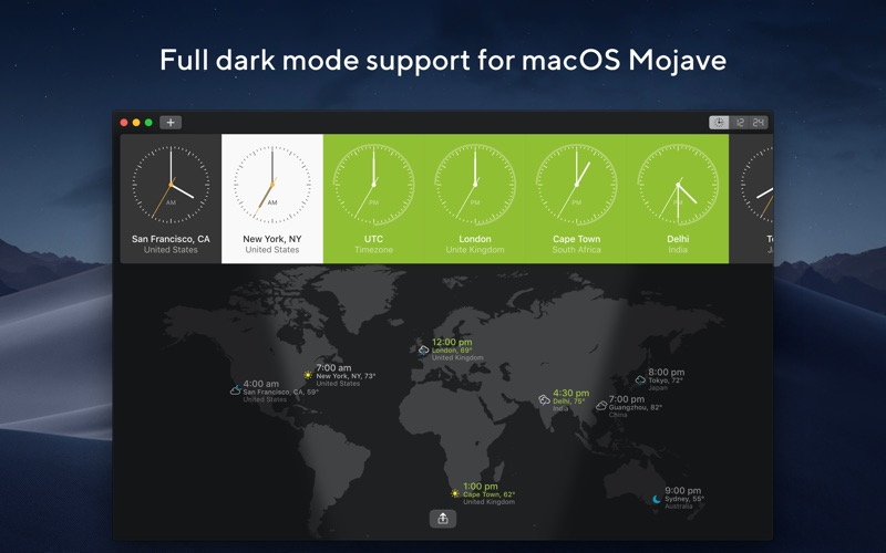World Clock Screenshot