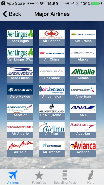 Airline Flight Check-In Americas
