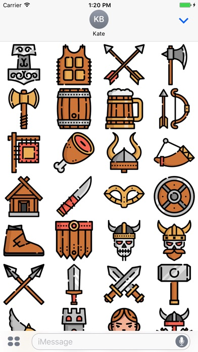 Screenshot for Vikings Stickers Emojis in Ecuador App Store
