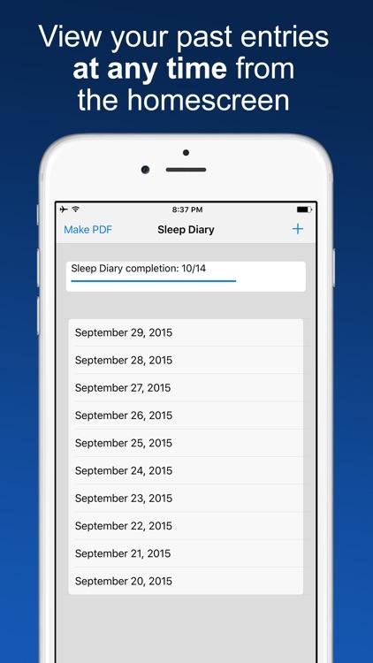 Sleep Diary with data export screenshot-4