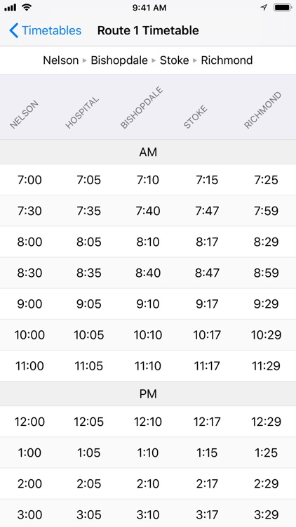 NBus Timetable screenshot-2