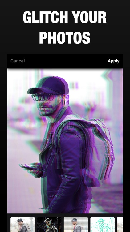 3D Effect- Glitch Camera Photo