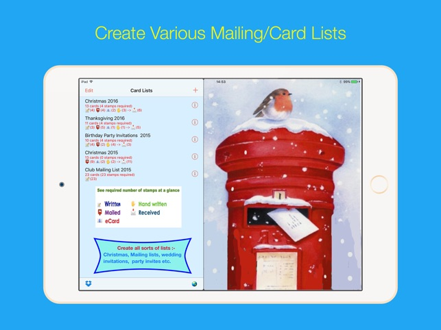 address labels for cardlists on the app store