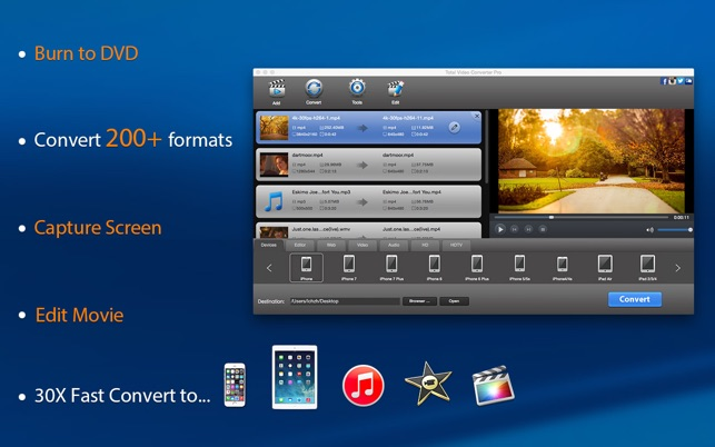 Total video converter pro dvd on the mac app store screenshots ccuart Choice Image