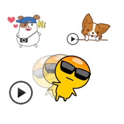 Animated Emoticon Emoji, Corgi Dog, Hamste Sticker