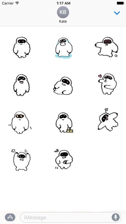 Funny Yeti YetiMoji Sticker