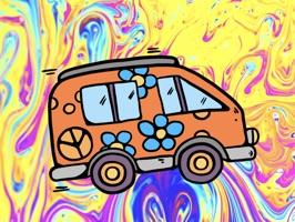 Hippie Paradise Stickers
