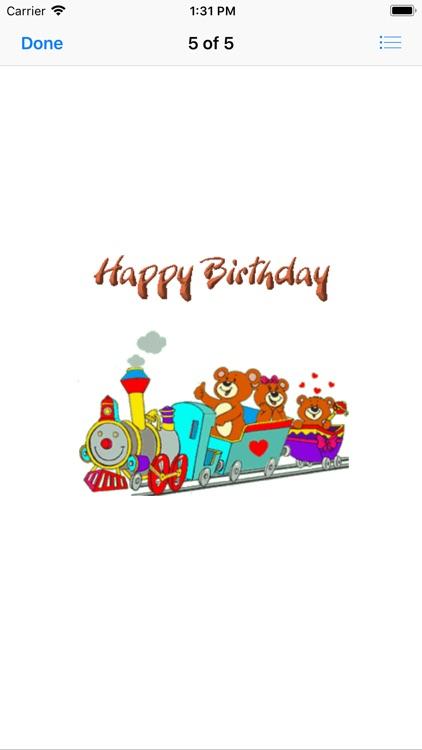 birthday animated stickers screenshot-8
