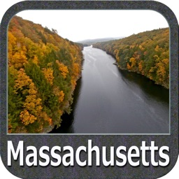 Massachusetts lakes chart GPS fishing Navigator