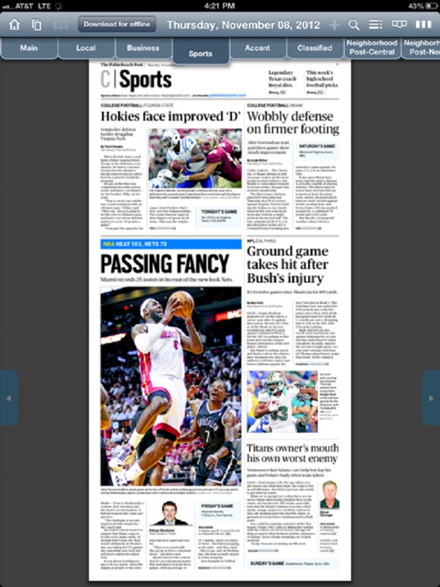 Palm Beach Newspapers Inc