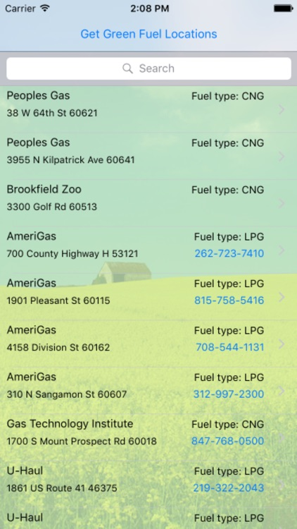 Chicago Green Fuel Finder screenshot-2