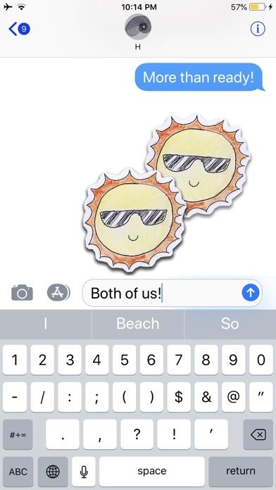 Kawaii! Summertime Stickers screenshot four