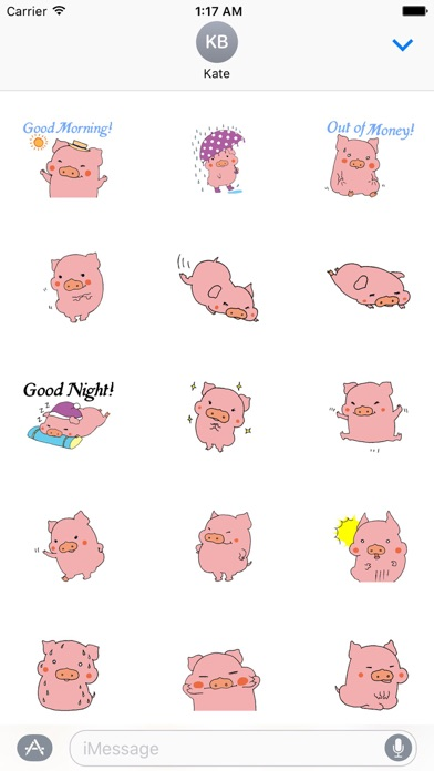 Cute Pink Piglet Sticker screenshot 2
