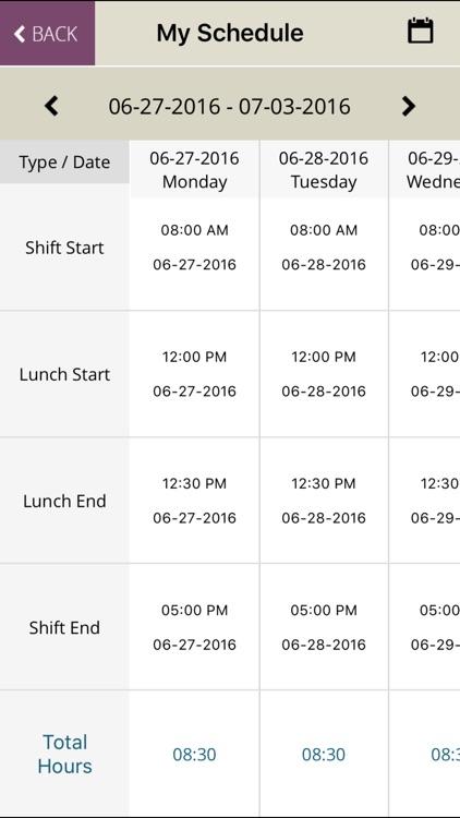 Time Clock: Employee